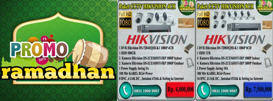 PROMO PAKET MURAH CCTV HIKVISION