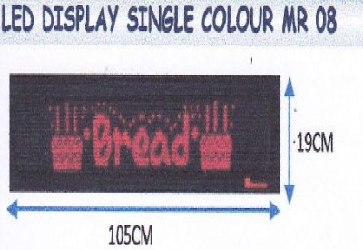 LED DISPLAY SINGLE COLOUR MR 08
