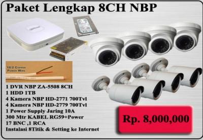 PROMO PAKET CCTV 8CH NBP