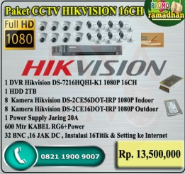 Paket CCTV HIKVISION TURBO HD 16CH ORI