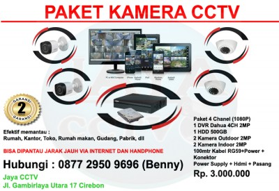 PAKET 4CH CCTV DAHUA HD 2MP 1080P