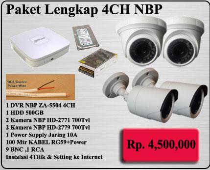 Paket CCTV MURAH 4CH
